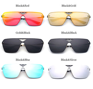 Fashion Rimless Square Sunglasses Men 2017 New Women UV400 Mirror Sun Glasses