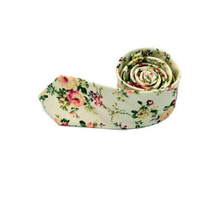 Men Fashion Tie Necktie 2017 New Floral Printing Skinny Slim Necktie Cotton gravata Narrow Business Casual Wedding Tie 145cm*6cm