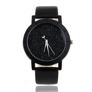 2017 New Fashion Women Men Quartz-watch PU Leather Simply Desgin Wrist Watches For Lovers Womens watches Male Clock