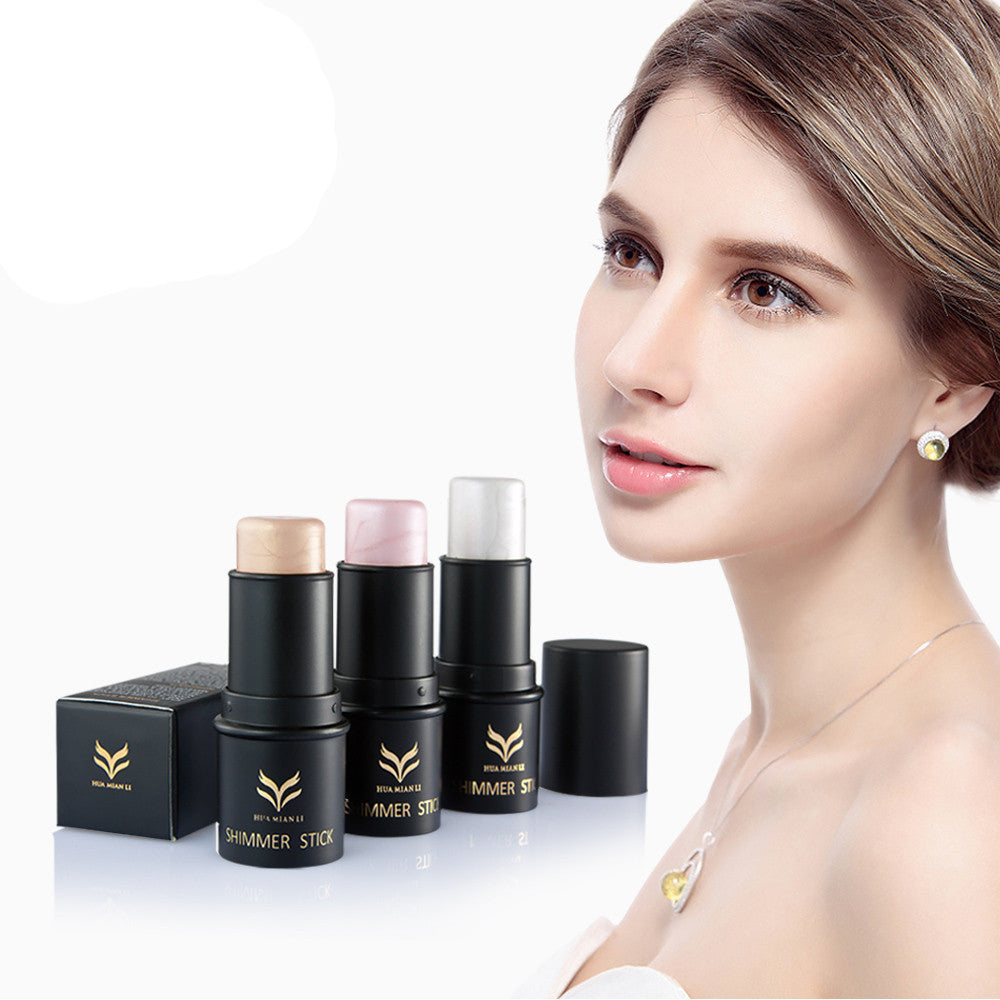 Huamianli Highlight Rods Powder Stick Gold Shade And Silver Shimmer Powder Makeup Cosmetics