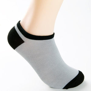 5 Pairs Men Bamboo Fiber Loafer Boat socks 24-27cm Breathable Invisible Liner Low Cut No Show Solid Socks