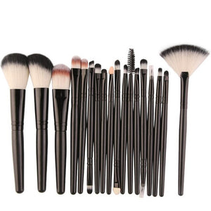 18 pcs Makeup Brush Set tools Make-up Toiletry Kit Wool Make Up Brush Set