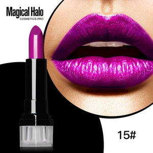 Long-Lasting East to Wear Lipgloss Sexy Metal Makeup Proof Water Lipstick Frosted Pigment Gold Metallic Liquid Lipstick
