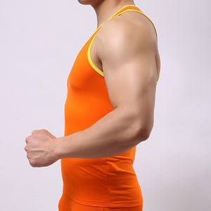 Men Elastic Sleeveless Tank Top Casual Gym Muscle Summer Vest BK L