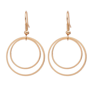 Minimalist Personality Geometry Double Circle Earrings Stud Earrings