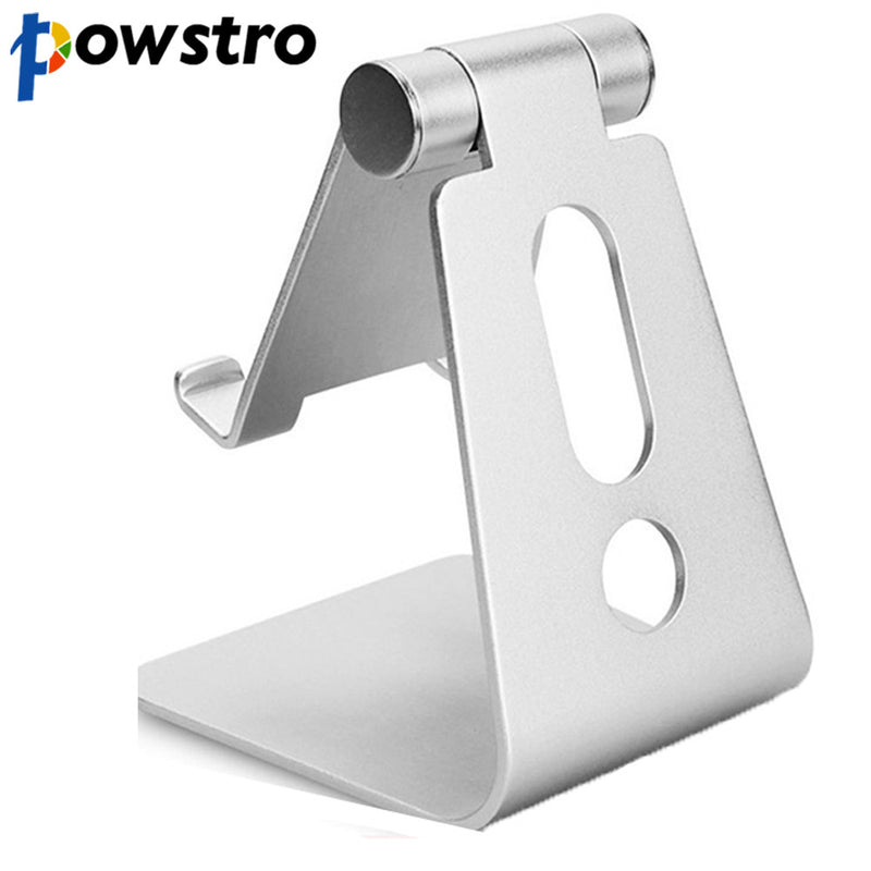 Powstro Aluminum Metal Mobile Phone Tablet Desk Holder Stand for iPhone Samsung Cellphone Desk Stand For iPad iPhone Holder