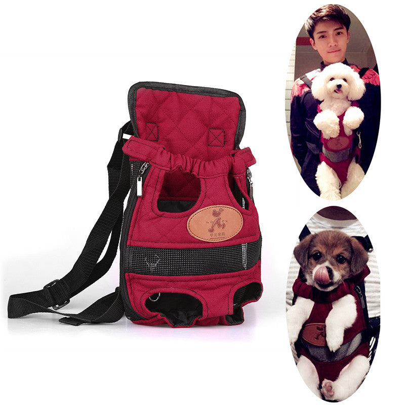 Foldable Fashion Pet Dog Carrier Backpack Dog Carrier Bag Travel Breathable Outdoor Shopping Dog Bag two Shoulders Straps