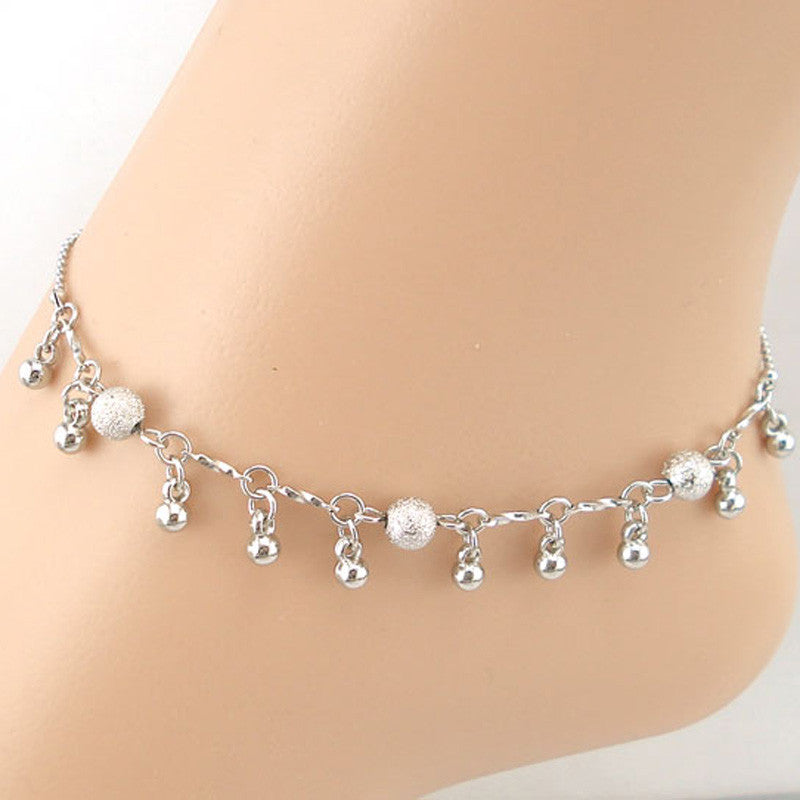 Small Beads Pendant Women Chain Anklet Bracelet Sandal Beach Foot Jewelry