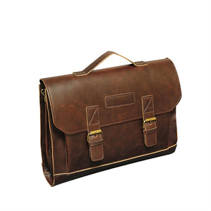 PU Leather Vintage Retro Business Work Men Briefcase Messenger Courier Satchel Bag