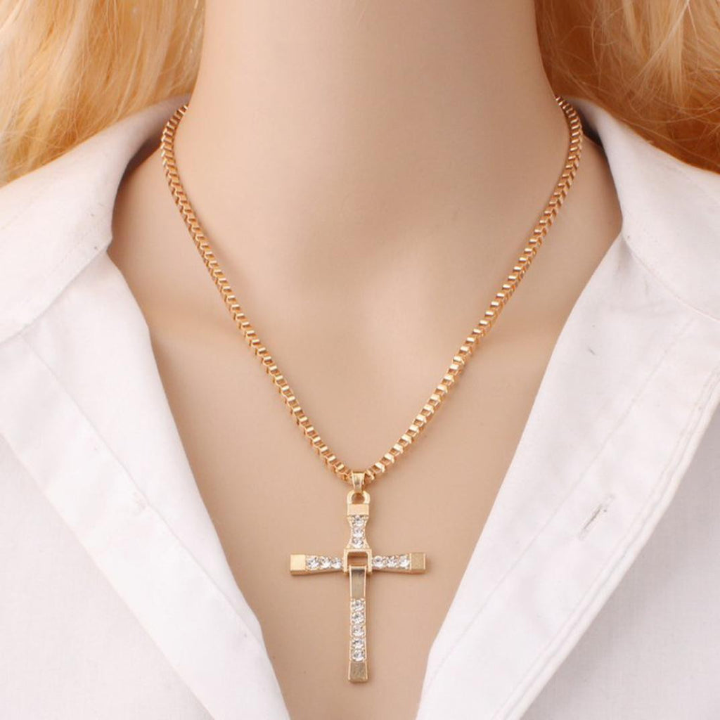 NEW Fashion Unisex's Men plated Cross Pendant Necklace Chain Gift