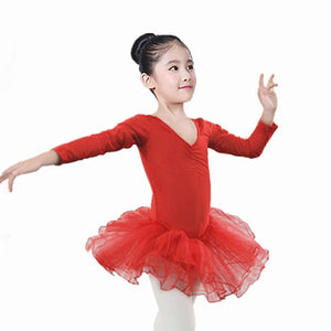 Toddler Girls Gauze Leotards Tops Bodysuit Dancewear Dress Clothes Girls Outfits
