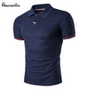 2018 Men's Polo Shirt Style Summer Fashion Men Lapel Polo Shirts Cotton Slim Fit Polos Top Casual Camisas Masculinas D35