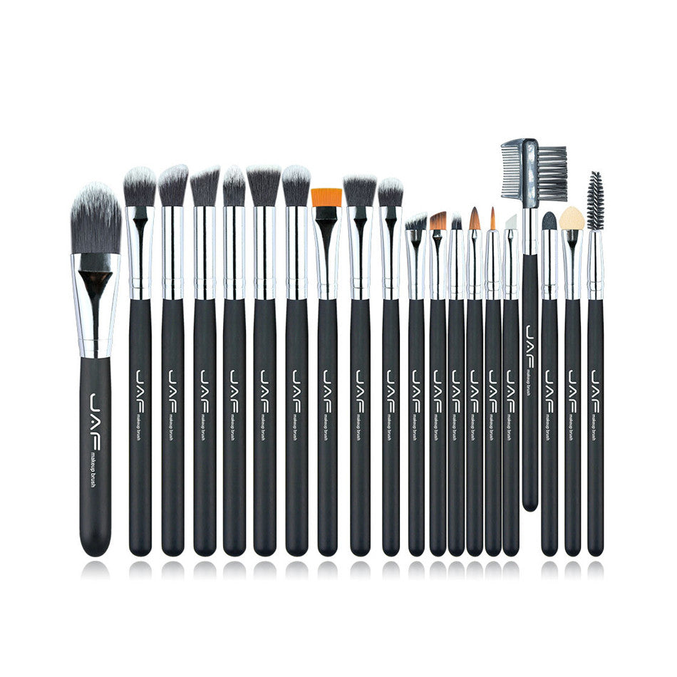JAF Brand 20 pcs/set Makeup Brush Professional Foundation Eye Shadow Blending Cosmetics Make-up tool. 100% Vegan Synthetic Taklon