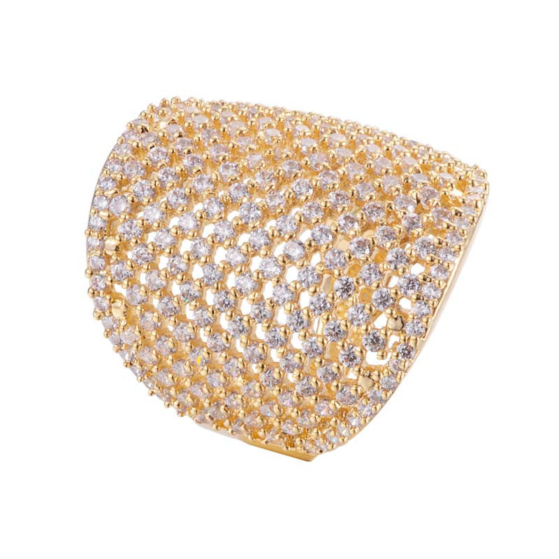 Teniss Copper Zirconia Ring 18K Gold/Platinum Plated