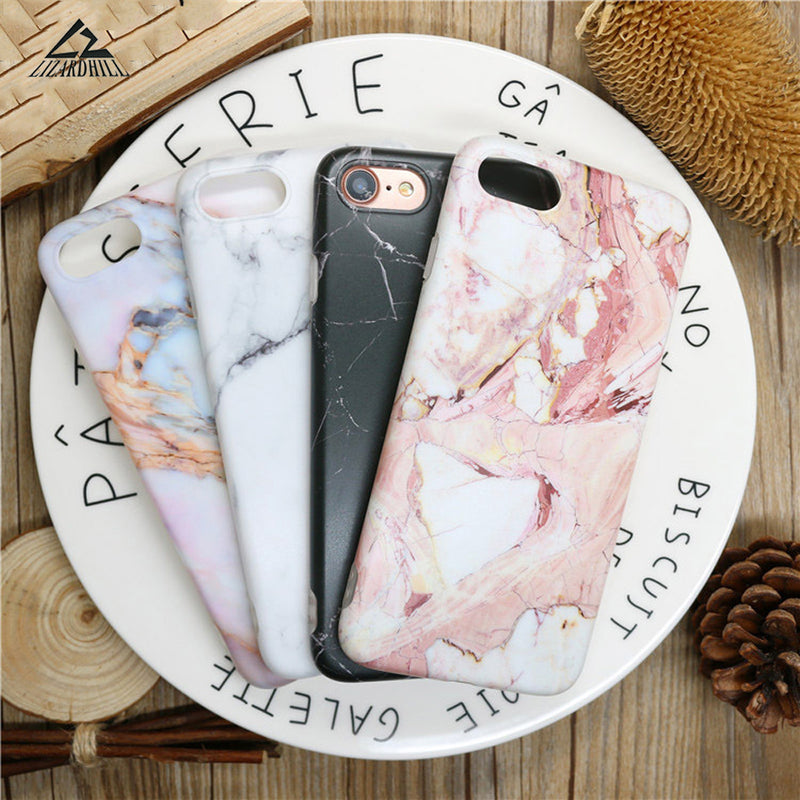 Lizardhill Fashion Marble Phone Cases for iPhone 6, 6S, 6S Plus, 7 Plus, 8 Plus, X