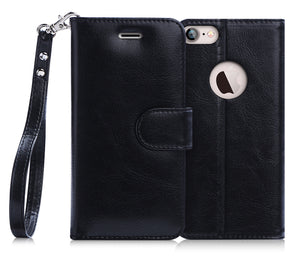 FYY [Kickstand Feature] Flip Folio Leather Wallet Case with ID&Credit Card Pockets for Apple iPhone 8/7 (4.7 inch)