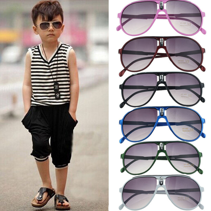 Child Children Boy Girl Kid Plastic Frame Sunglasses Goggles