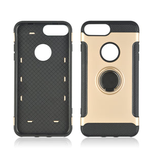 Phone Cover Hard PC 360 Rotate Ring Holder Phone Back Case Shockproof for IPhone X 8 7 6S 6 Plus