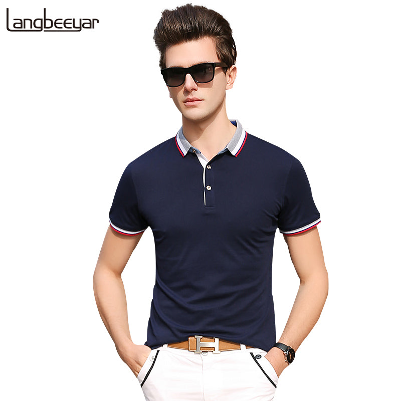 2018 New Fashion Brands Slim Fit Polo Shirt Men Streetwear Mens Polo Slim Fit Summer Shirts With Short Sleeve Mens Clothing