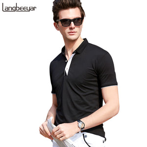 2018 New Fashion Mens Polo Shirt Brand Clothing Mandarin Collar Slim Fit Polo Men Short Sleeve Solid Color Casual Polo Shirt Men