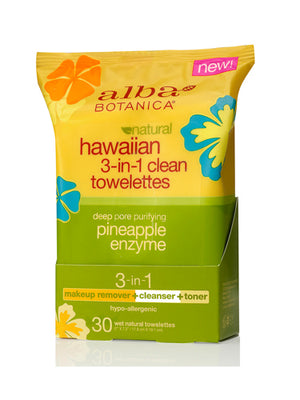 Alba Botanica 3 In 1 Clean Towelette (1x30 ct)