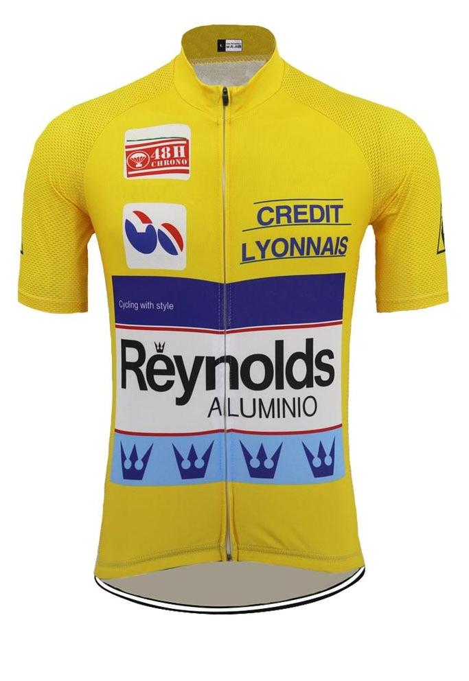 Maillot Classique Reynolds Jaune - Vintage Cycling