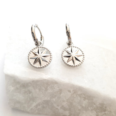 Earrings with star charm