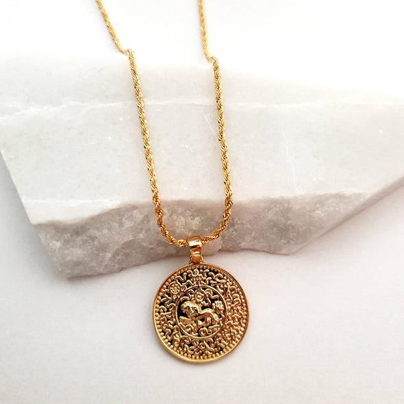 Necklace with coin