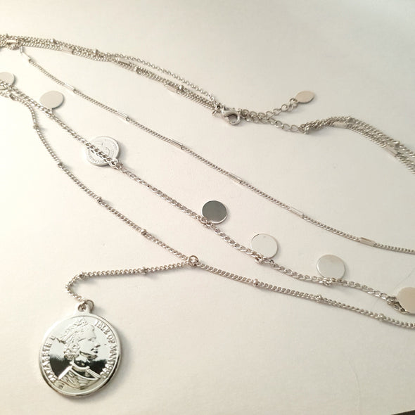 Necklace with coins