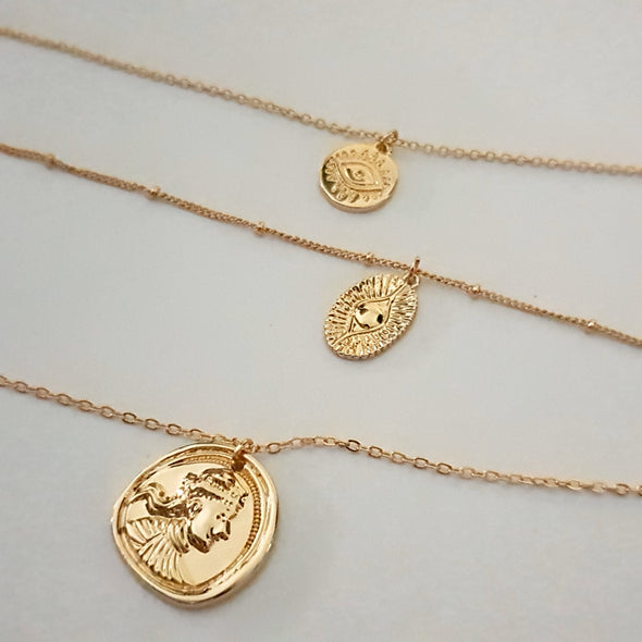 Necklace Layered with coins