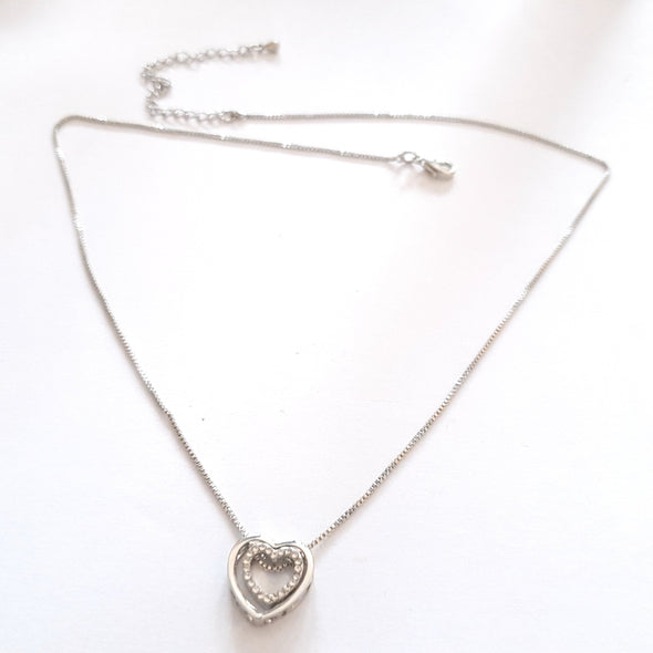 Necklace with heart charm