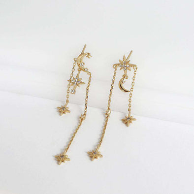 L'etoile earrings gold - Treasure Junkiess