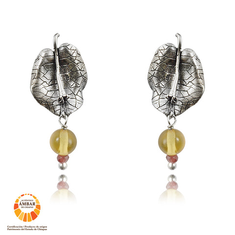Aretes Aves Pavo real