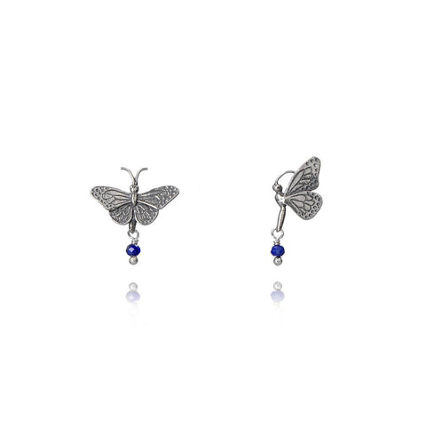 Aretes mariposa mini y catarina gorda