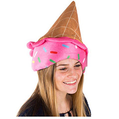 Tigerdoe Ice Cream Hat - Ice Cream Cone Costume - Novelty Hats - Food Hats - Crazy Hat Day - Ice Cream Party Supplies