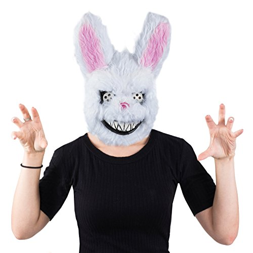 Scary Masks - Creepy Bunny Mask - Halloween Mask - Spooky Mask by Tigerdoe