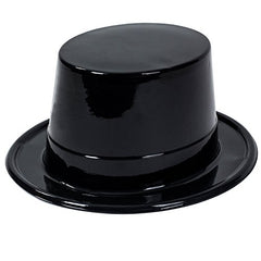 Plastic Top Hats - Magician Hats Bulk Black top Hats - Magician Party Supplies by Tigerdoe (20 pack)