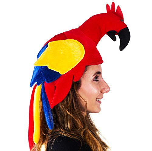Tigerdoe Parrot Hat - Jimmy Buffet Hat - Parrot Head Hat - Parrot Costume - Hawaiian Costume Hat