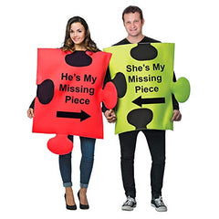 Tigerdoe Puzzle Piece Costume - Couple Costumes - Funny Adult Costumes - Novelty Costumes …