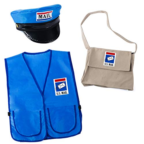 Tigerdoe Mailman Costume for Kids - Mr. Postman Costume - Career Day - Occupational Costume - 3 Pc Dress Up