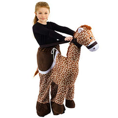 Tigerdoe Giraffe Ride On Costume - Animal Costumes for Kids - Zoo Costumes - Giraffe Costume