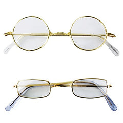 Tigerdoe Old Man Costume Glasses - 2 Pack - Granny Glasses - Grandpa Glasses - Santa Glasses - Costume Fake Glasses