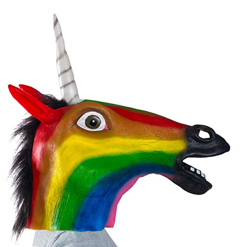 Tigerdoe Unicorn Mask - Unicorn Costume Adult - Rainbow Unicorn Mask - Unicorn Party Supplies