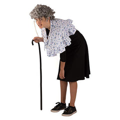 Tigerdoe Old Lady Costume - Granny Wig - Grandma Dress Up - Grandmother Costume - 5 pc Set Black