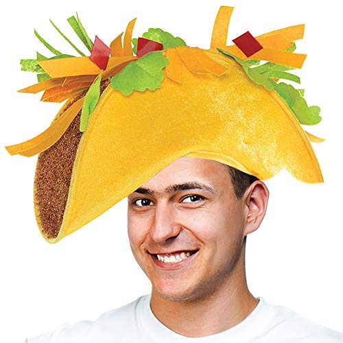 Tigerdoe Taco Costume Hat - Food Costumes - Costume Party Hat- Cinco De Mayo Hats - Fiesta Party