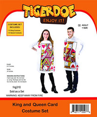Tigerdoe King and Queen Card Costume - Poker Cards Costume - Couple Costume - Chess Piece Hats - King & Queen of Hearts
