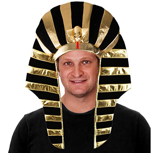 Tigerdoe Pharaoh Hat - Egyptian Costume Hat - Egyptian Costume Accessories - King Pharaoh Costume