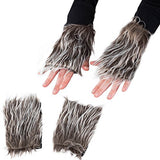 Tigerdoe Wolf Costume - 4 Pc Set - Wolf Headband and Tail with Gloves - Animal Costume Accessories