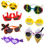 Tigerdoe Party Sunglasses For Adults - 7 Pairs - Novelty Sunglasses - Emoji Sunglasses - Party Glasses - Party accessories