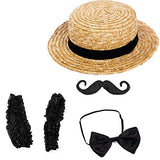 Tigerdoe Barber Costume - Carnival Costume - Barbershop Quartet Costume - 1920 Costumes (Black Barber Costume Set)